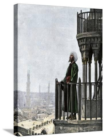 Islamic Muezzin Calling People to Prayer, 1800s--Stretched Canvas Print