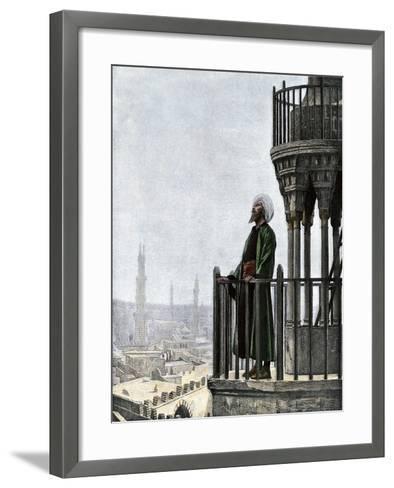 Islamic Muezzin Calling People to Prayer, 1800s--Framed Art Print