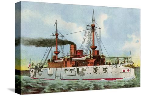 "U.S. Battleship ""Texas,"" Circa 1900--Stretched Canvas Print"