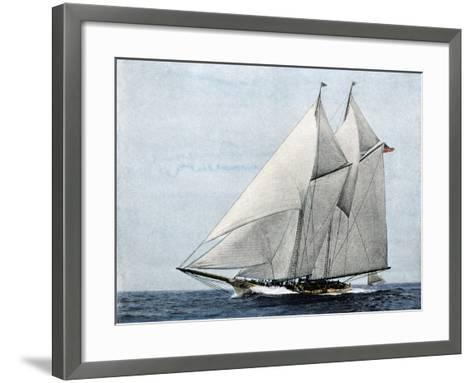 "Yacht ""America,"" First Winner of the America's Cup Race, in a Later Rig--Framed Art Print"