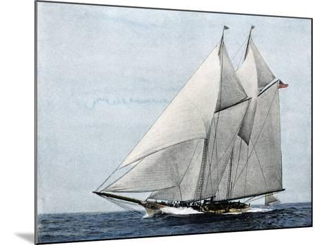 "Yacht ""America,"" First Winner of the America's Cup Race, in a Later Rig--Mounted Giclee Print"