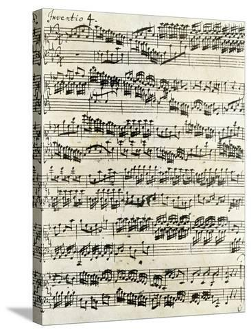 Original Manuscript of Bach's Eighth Invention--Stretched Canvas Print