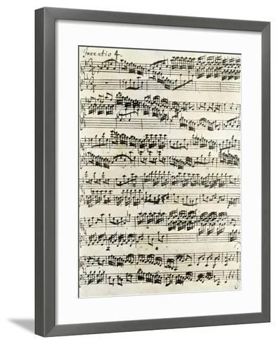 Original Manuscript of Bach's Eighth Invention--Framed Art Print