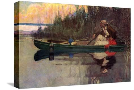 Sentry Guarding Louisiana Hideout of Pirate Jean Lafitte--Stretched Canvas Print