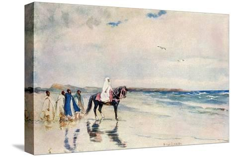 Sultan Mulai Abd-Ul-Aziz on the West Shore of Morocco, Circa 1900--Stretched Canvas Print