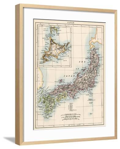 Map of Japan, 1870s--Framed Art Print