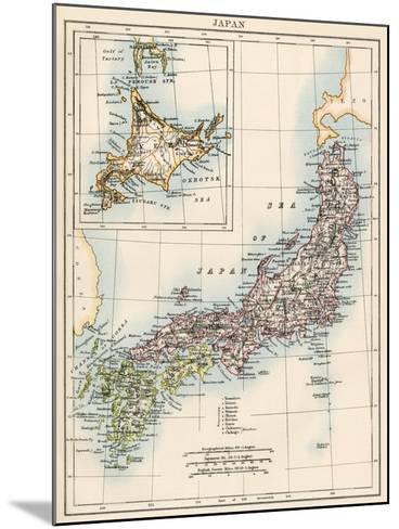Map of Japan, 1870s--Mounted Giclee Print