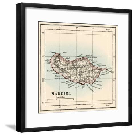 Map of the Island of Madeira, 1870s--Framed Art Print
