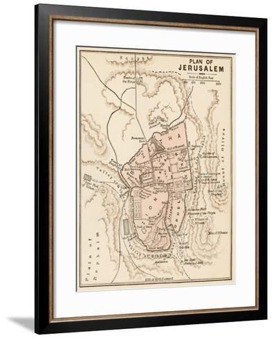 Map of the City of Jerusalem, 1870s--Framed Art Print