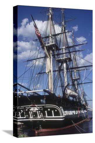"""USS Constitution """"Old Ironsides"""" Docked in Boston--Stretched Canvas Print"""