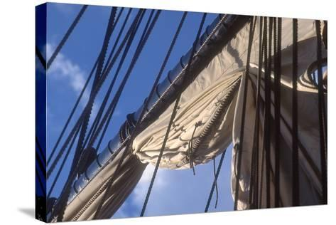 USS Constitution's Mainsail Detail, Boston--Stretched Canvas Print