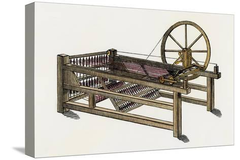 Hargreaves's Spinning-Jenny, Invented in the 1760s--Stretched Canvas Print