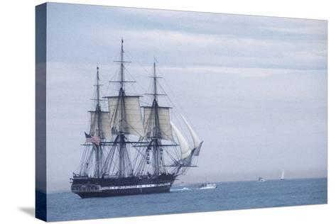 """USS Constitution """"Old Ironsides"""" Under Sail, Massachusetts Bay, Celebrating Its Bicentennial, 1997--Stretched Canvas Print"""