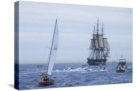 "USS Constitution ""Old Ironsides"" Under Sail, Massachusetts Bay, Celebrating Its Bicentennial, 1997--Stretched Canvas Print"
