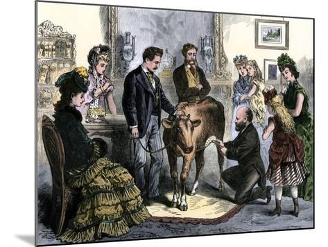 Patients Vaccinated Against Smallpox with Live Virus From a Calf, 1872--Mounted Giclee Print