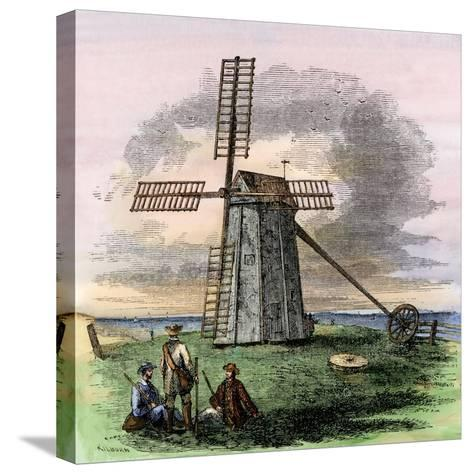 Windmill in Truro on Cape Cod, Massachusetts, 1850s--Stretched Canvas Print