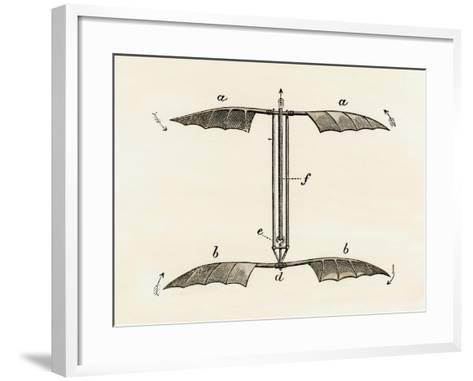 Helicopter Rotor Blades, or Screw-Model, by Penaud, 1872--Framed Art Print