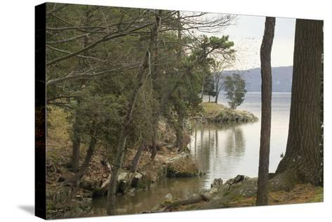 Hudson River From the Shore of Hyde Park, NY--Stretched Canvas Print