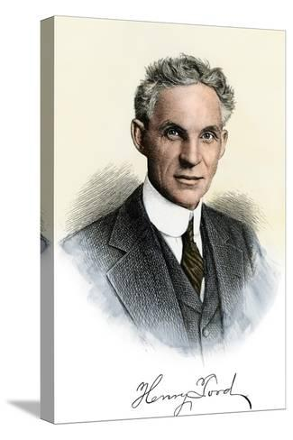 Henry Ford Portrait, with Autograph--Stretched Canvas Print
