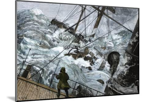 "Orient Line Steamship ""Chimborazo"" in a Gale, 1880--Mounted Giclee Print"