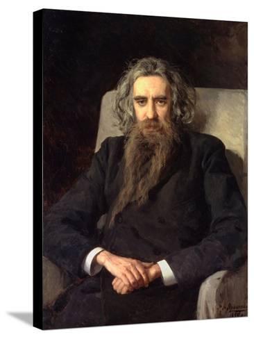 Portrait of the Philosopher Und Author Vladimir Solovyov (1853-1900)--Stretched Canvas Print