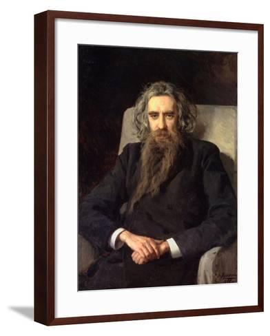 Portrait of the Philosopher Und Author Vladimir Solovyov (1853-1900)--Framed Art Print