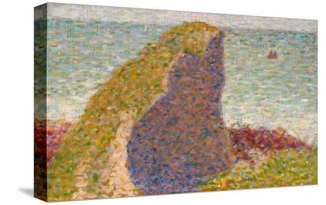 Le Bec Du Hoc, Grandcamp (Study)-Georges Seurat-Stretched Canvas Print