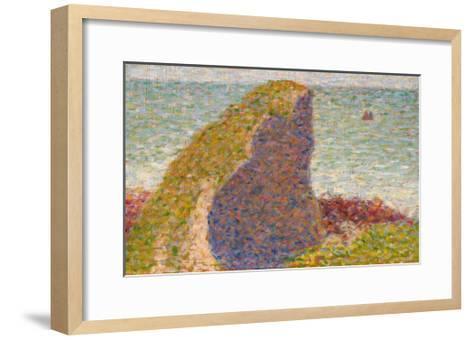 Le Bec Du Hoc, Grandcamp (Study)-Georges Seurat-Framed Art Print