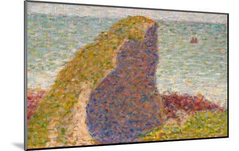 Le Bec Du Hoc, Grandcamp (Study)-Georges Seurat-Mounted Giclee Print