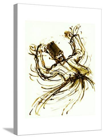Whirling Dervish, Turkey, 2005, ink drawing--Stretched Canvas Print