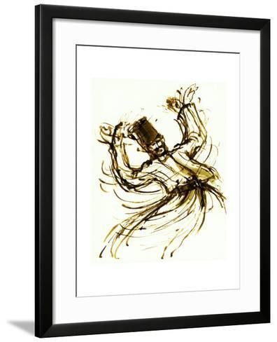 Whirling Dervish, Turkey, 2005, ink drawing--Framed Art Print