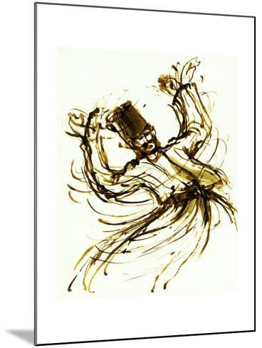 Whirling Dervish, Turkey, 2005, ink drawing--Mounted Giclee Print