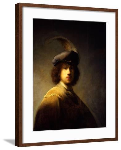 Self-Portrait, Aged 23-Rembrandt van Rijn-Framed Art Print