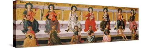 The Seven Virtues-Francesco Di Stefano Pesellino-Stretched Canvas Print