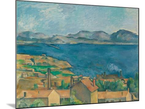 The Bay of Marseilles, Seen From L'Estaque-Paul C?zanne-Mounted Giclee Print