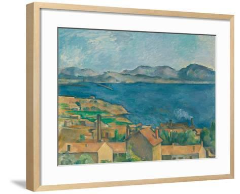The Bay of Marseilles, Seen From L'Estaque-Paul C?zanne-Framed Art Print