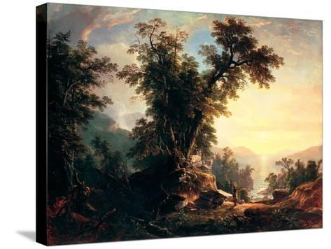 The Indian's Vespers-Asher Brown Durand-Stretched Canvas Print