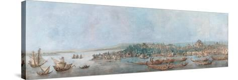 Panorama of Sarayburnu-Louis-Francois Cassas-Stretched Canvas Print