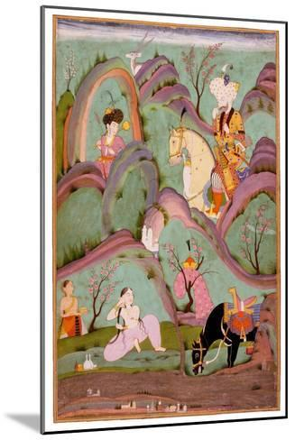 Khusraw Beholding Shirin Bathing. (Miniature From the Cycle of Eight Poetic Subjects)--Mounted Giclee Print