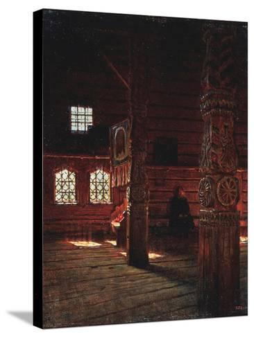 Interior of the Peter And Paul Church in Puchug-Vasili Vasilyevich Vereshchagin-Stretched Canvas Print
