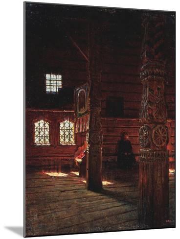 Interior of the Peter And Paul Church in Puchug-Vasili Vasilyevich Vereshchagin-Mounted Giclee Print