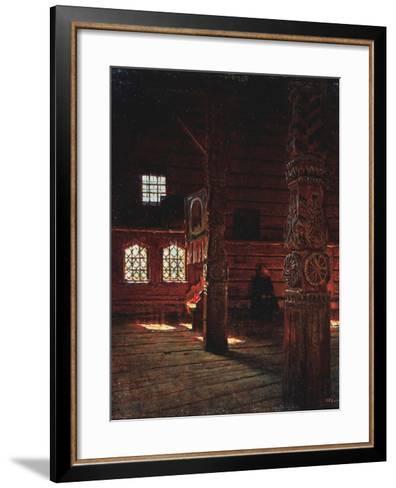 Interior of the Peter And Paul Church in Puchug-Vasili Vasilyevich Vereshchagin-Framed Art Print