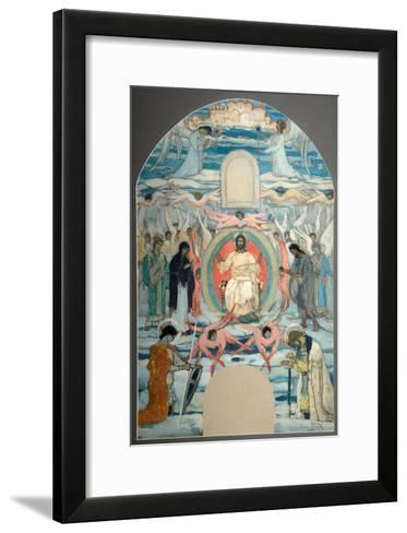 The Saviour Enthroned-Mikhail Vasilyevich Nesterov-Framed Art Print