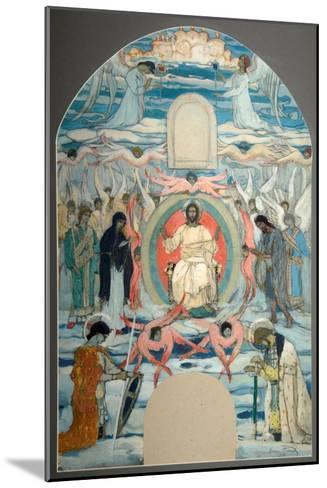 The Saviour Enthroned-Mikhail Vasilyevich Nesterov-Mounted Giclee Print