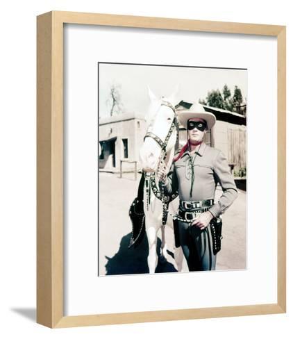 Clayton Moore, The Lone Ranger (1956)--Framed Art Print