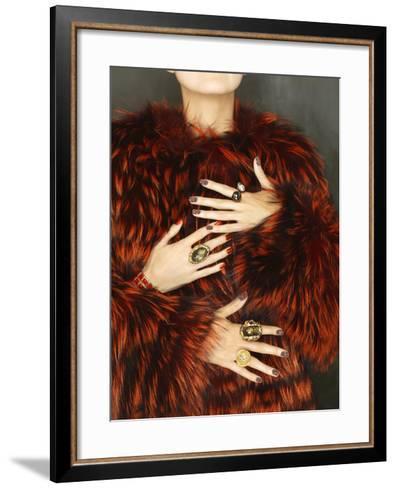 Multiple Hands-Graeme Montgomery-Framed Art Print