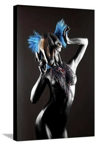 Masked Nude-Graeme Montgomery-Stretched Canvas Print