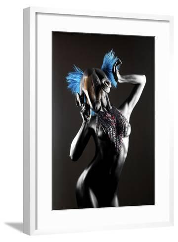 Masked Nude-Graeme Montgomery-Framed Art Print