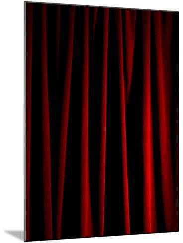 Rich Red Curtain-Graeme Montgomery-Mounted Photographic Print