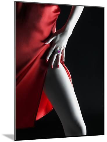 Silky Red Dress-Graeme Montgomery-Mounted Photographic Print